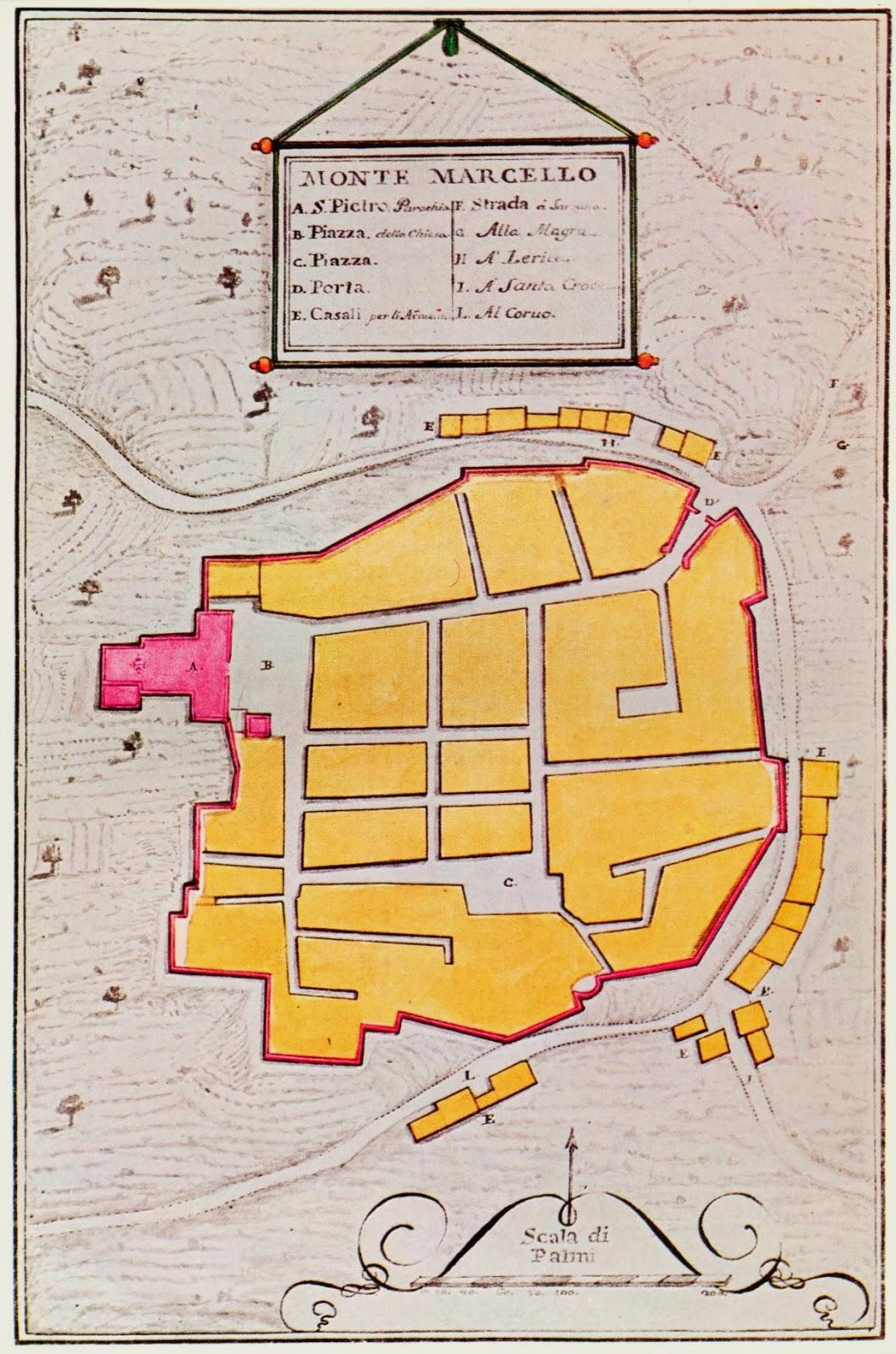 Vinzoni map Montemarcello