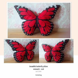 Bantal Kupu Monarch Merah