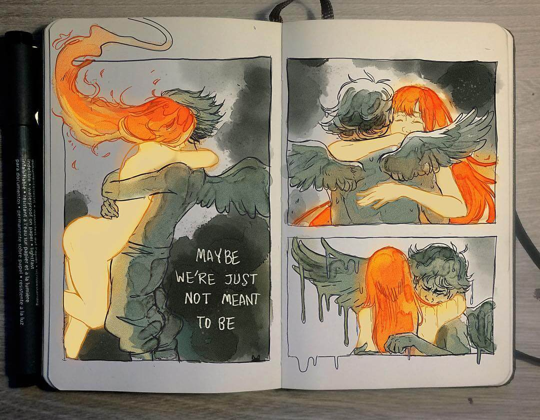 30 Stunning Illustrations Underline The Intensity Between Two Lovers