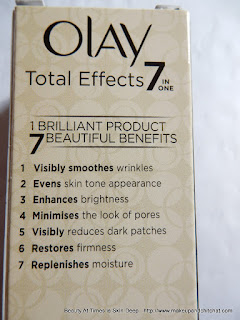 Olay Total Effects 7-in-1 Lightweight Anti-Ageing Cream SPF 15 claims