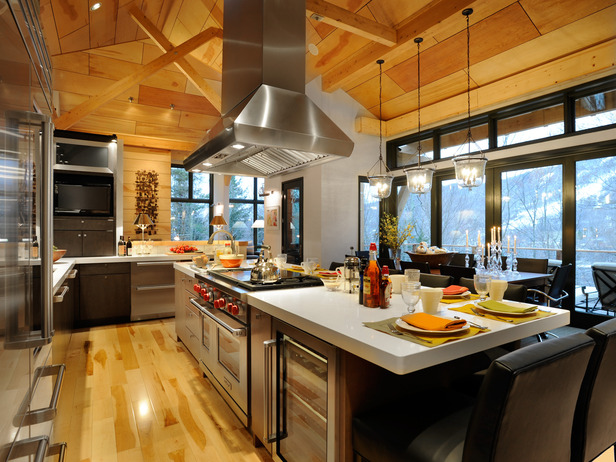Nest by tamara an exciting trip to subzero wolf the - Kitchen island with cooktop and seating ...