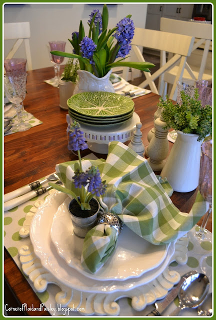 Spring Tablescape with Hyacinths