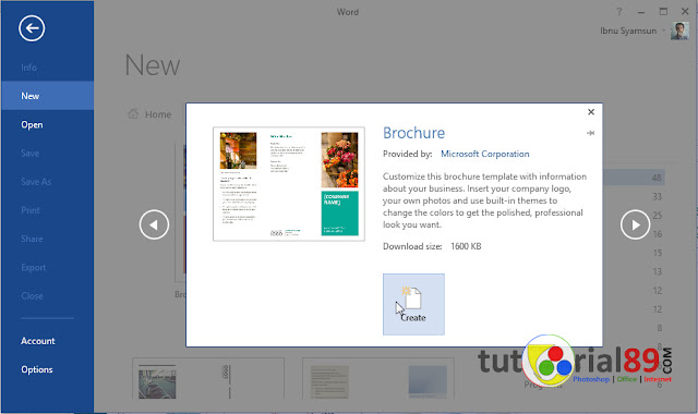 Cara mudah membuat brosur dengan Microsoft word