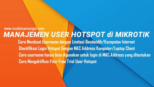Cara Membuat User Hotspot MikroTik