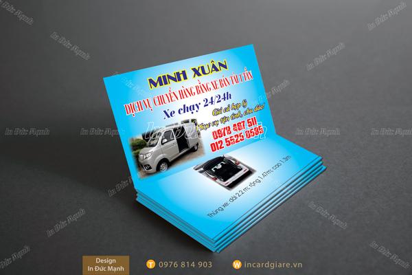 Mẫu card visit Dịch vụ xe Minh Xuân