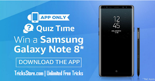 amazon today quiz samsung galaxy note 8 tricksstore