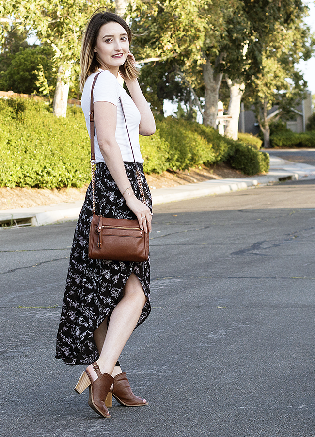 How -To Style a Floral Maxi Skirt