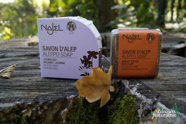 NAJEL - Mydła aleppo z dodatkiem jaśminu oraz glinki czerwonej