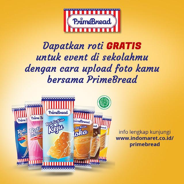 #Indomaret - #Promo Roti PrimeBread GRATIS untuk Event Sekolahmu