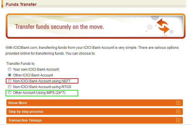 transfer money from india to canada icici bank