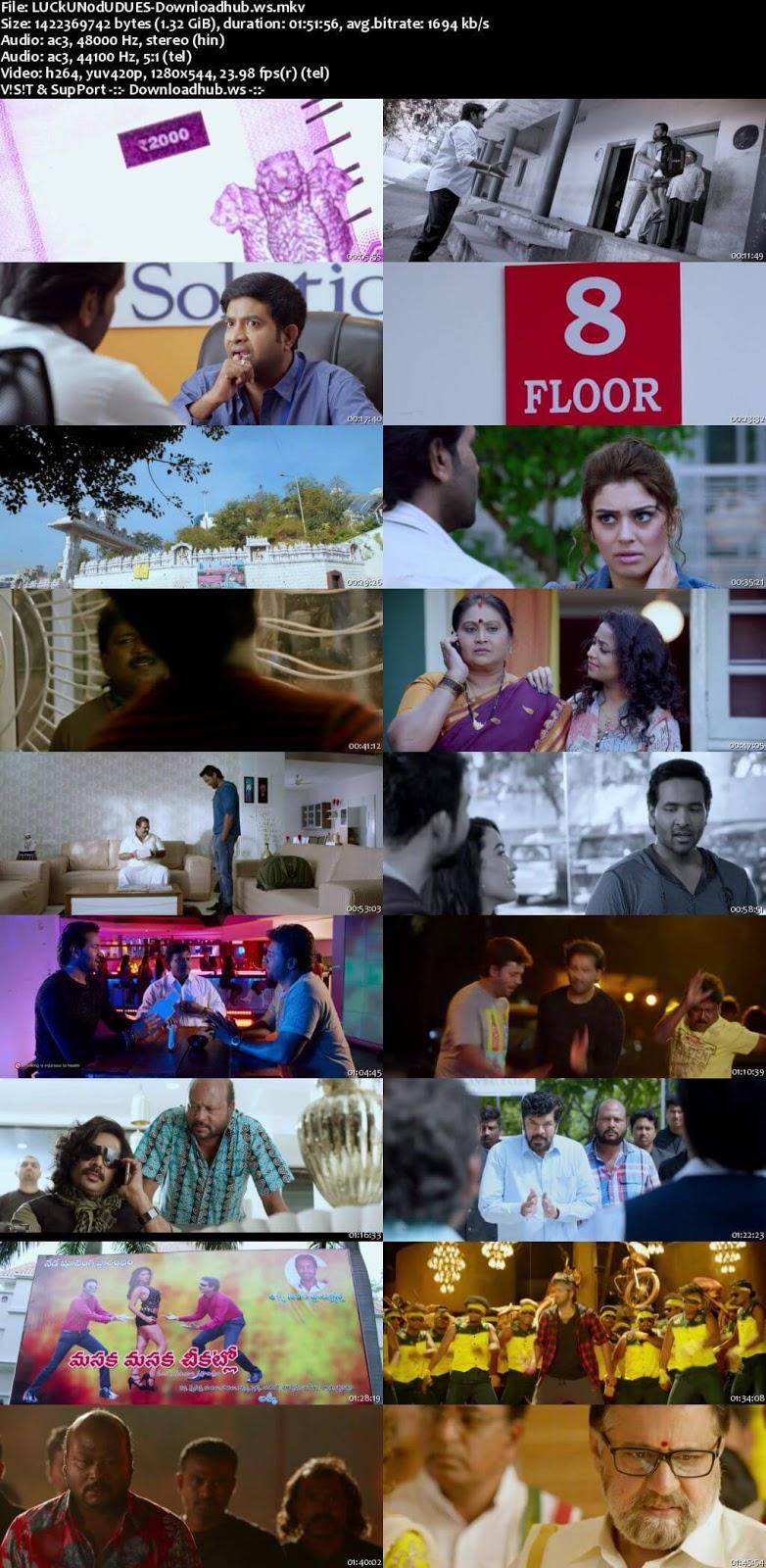 Luck Unnodu 2017 UNCUT Hindi Dual Audio 720p HDRip Free Download