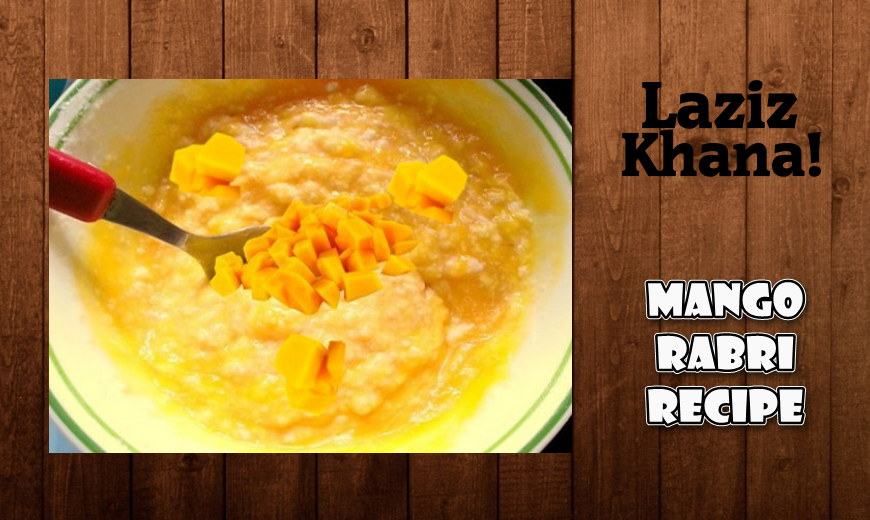 Mango Rabri Recipe In Roman English