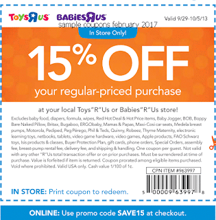 free Babies R Us coupons february 2017