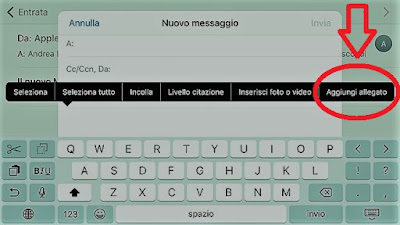 Come allegare file su iPhone e iPad: TUTORIAL