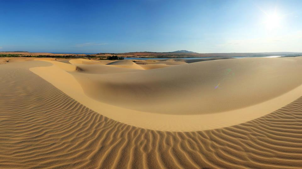 sand dunes off mui ne beach in Vietnam