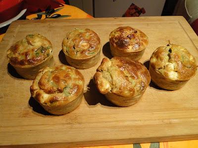 Muffins concombre feta menthe
