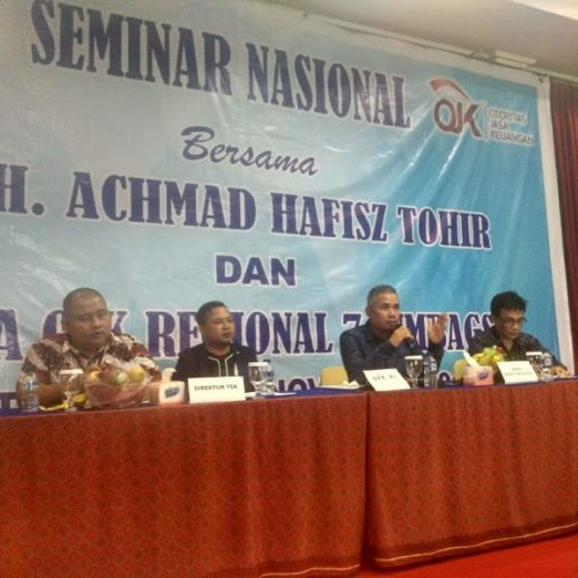 Hasil Seminar nasional bersama Hafisz Tohir dan kepala OJK Regional Sumsel