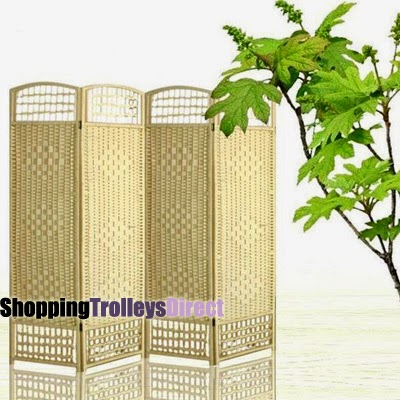 Wicker room dividers