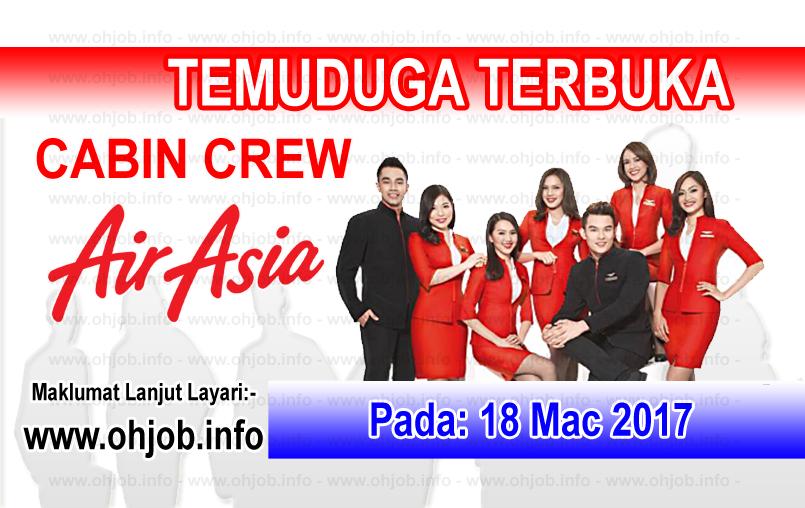 Jawatan Kerja Kosong Cabin Crew AirAsia logo www.ohjob.info mac 2017