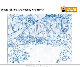 Boceto ilustración otorongo