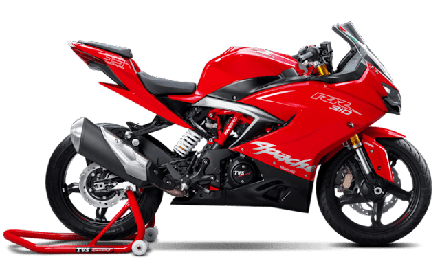 New 2018 TVS Apache RR 310 Red color pics