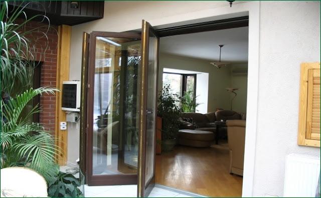 Drzwi tarasowe harmonijkowe, okna tarasowe składane, bez progu,