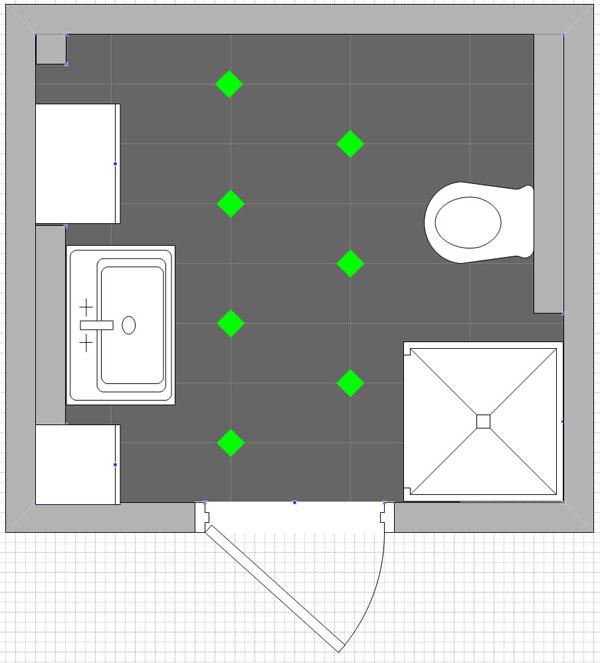 sandra und alexander bauen ein haus 161 tage die ersten fliesen sind verlegt. Black Bedroom Furniture Sets. Home Design Ideas