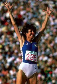 Sara Simeoni won the Olympic gold medal in 1980 in Moscow