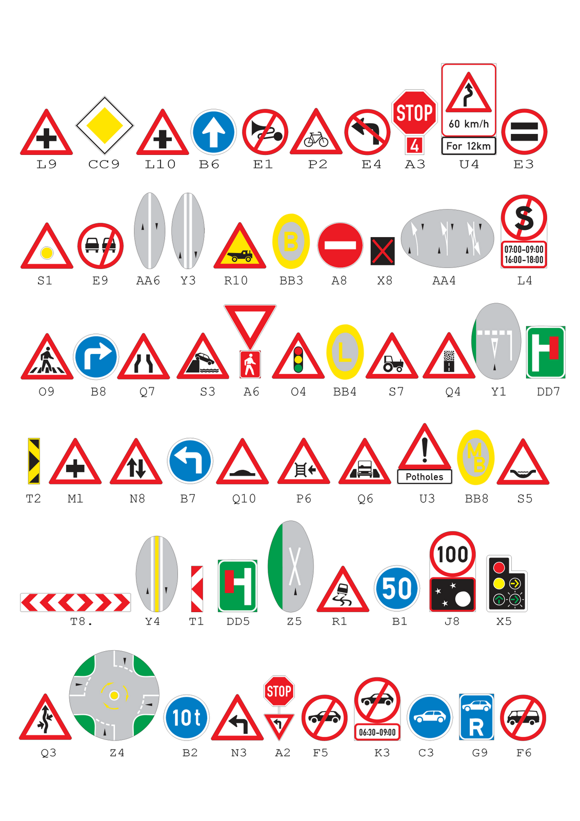 Example K53 Learner S Test With Answers Road Signs For
