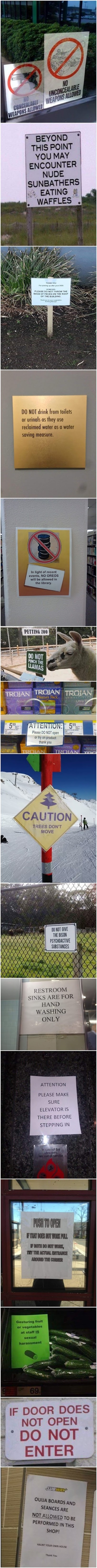 Funny Signs With Stories Picture Collection