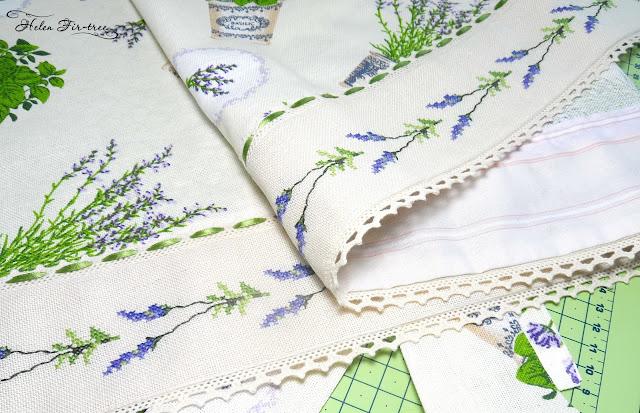 Helen Fir-tree  countable embroidery cross lavender apron вышивка счётным крестом лаванда передник