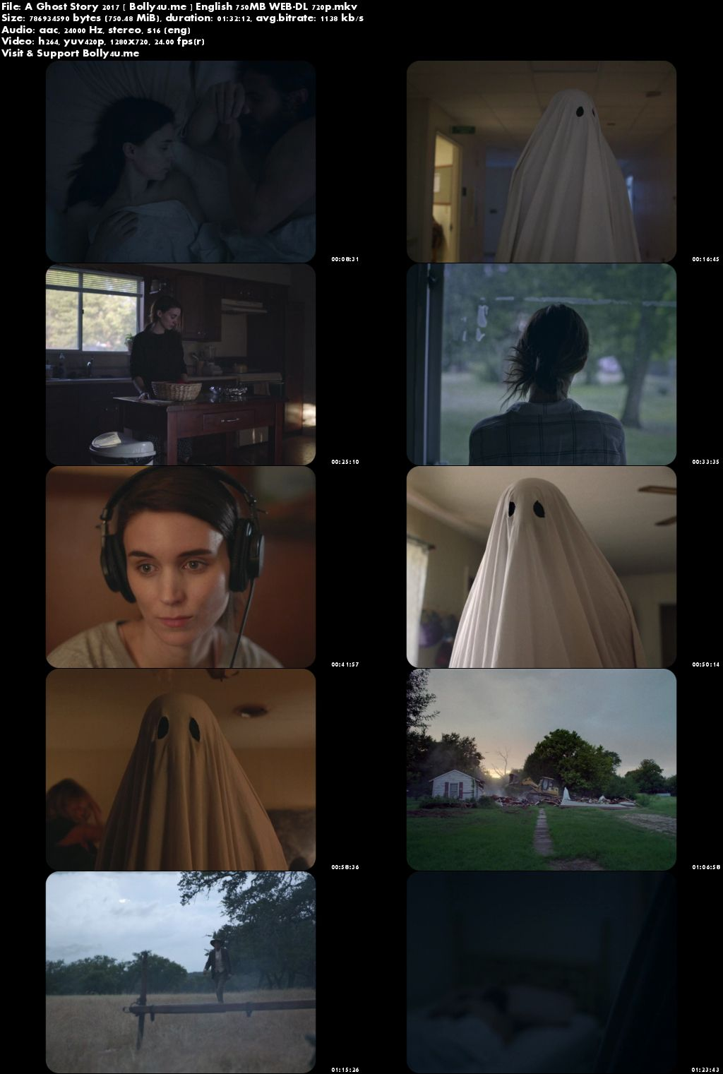 A Ghost Story 2017 WEB-DL 280Mb English Movie 480p Download