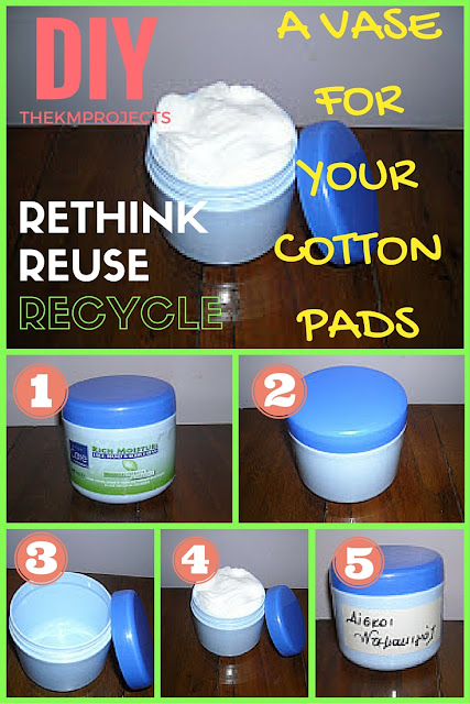 EASY DIY CONTAINER FOR YOU COTTON PADS