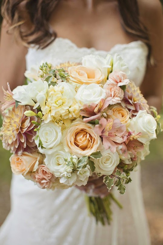 Rustic At Home Wedding bouquets for fall 2015