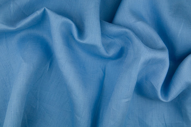 Cornflower Handkerchief Linen Fabric