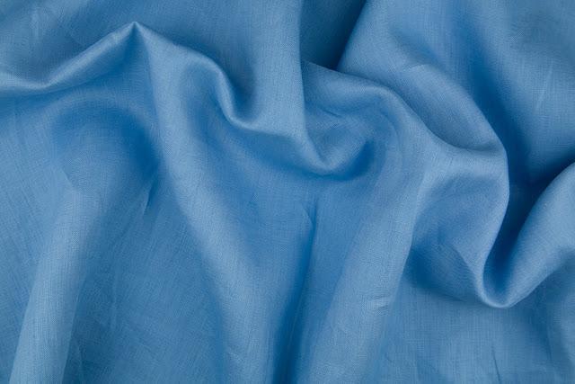Cornflower Handkerchief Linen Fabric