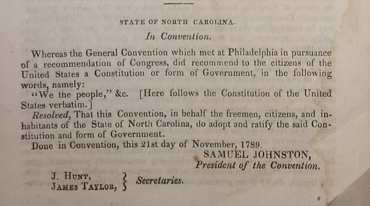 the ratification of the constitution The ratification of the conventions of nine states, shall be sufficient for the establishment of this constitution between the states so ratifying the same.
