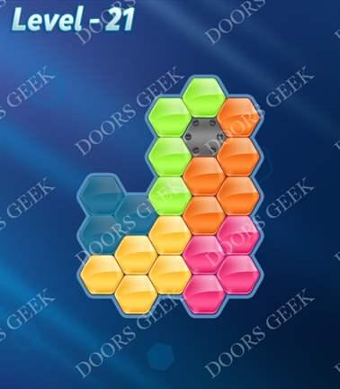 Block! Hexa Puzzle [Rainbow A] Level 21 Solution, Cheats, Walkthrough for android, iphone, ipad, ipod