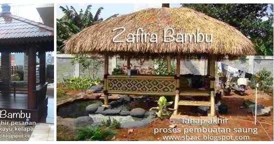 pusat pengrajin dan jasa pembuatan saung bambu gazebo