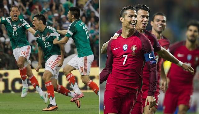 Portugal vs Mexico en vivo