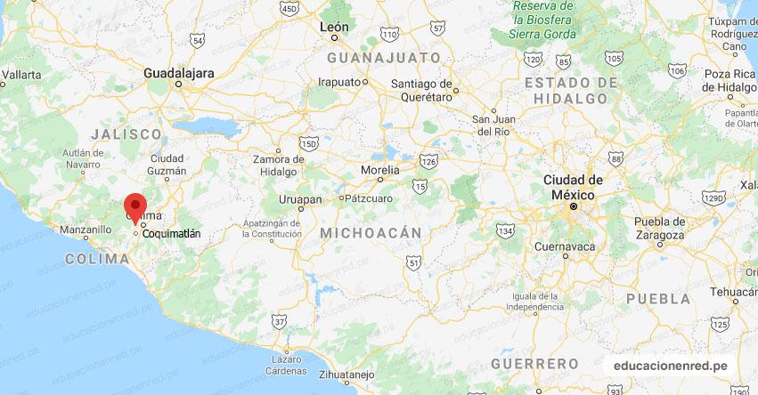 Temblor en México de Magnitud 4.2 (Hoy Sábado 01 Agosto 2020) Sismo - Epicentro - Coquimatlán - Colima - COL. - SSN - www.ssn.unam.mx