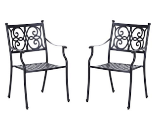 Outsunny Cast Aluminum Outdoor Dining Chairs