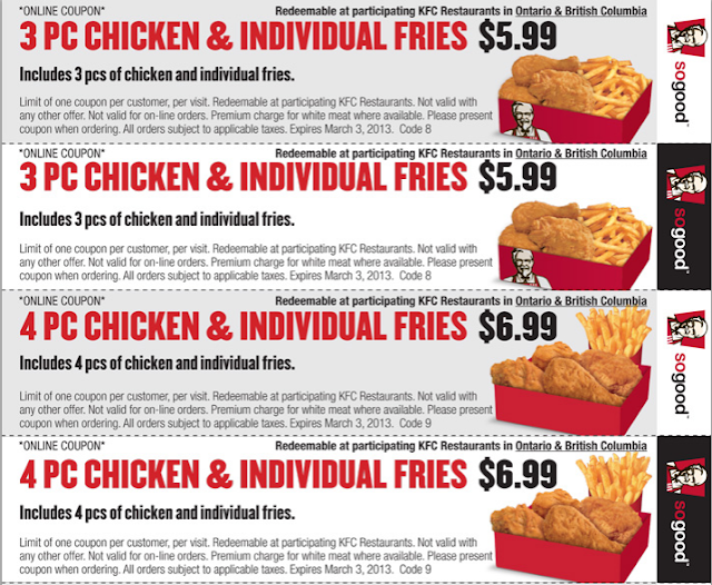photograph about Kfc Coupons Printable named Kfc discount coupons august 2018 canada / Berlin town nissan coupon codes