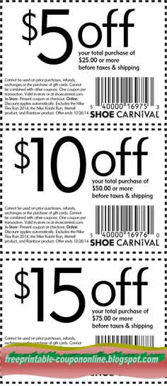 image regarding Shoe Carnival Coupon Printable named Shoe carnival printable discount codes 2019