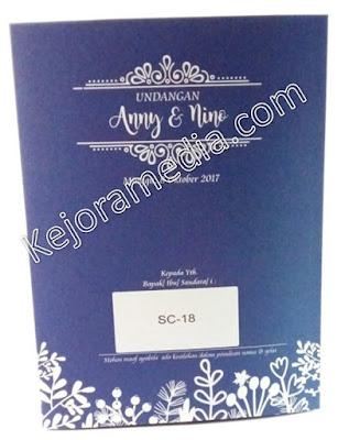 undangan warna biru dongker