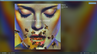 KDE Plasma Elisa music player shown full-screen