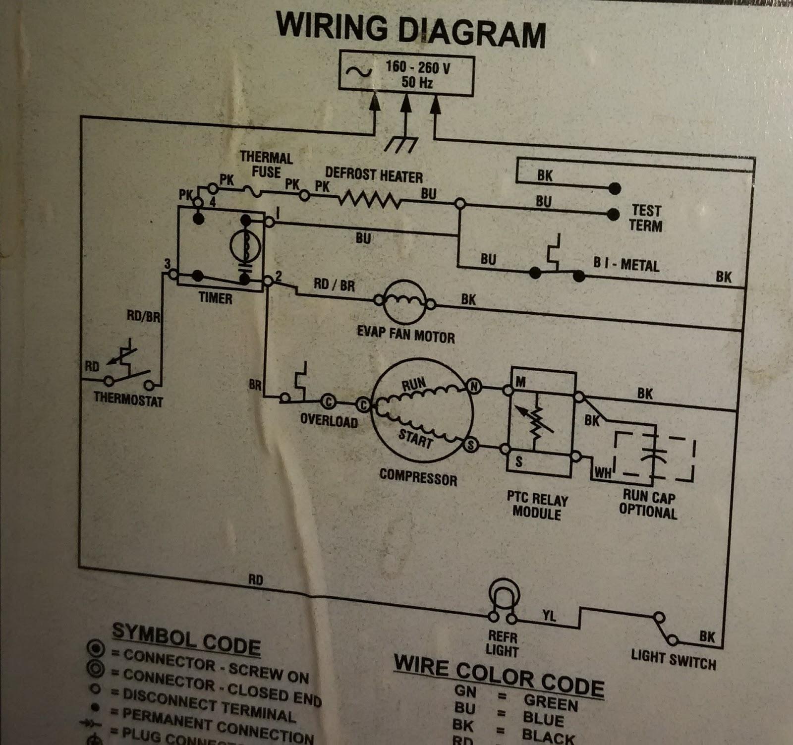 hight resolution of wiring diagram of double door refrigerator