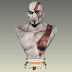 Papercraft Kratos God Of War V2 Busto 55cm