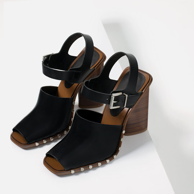 Zara Studded Clog Sandals