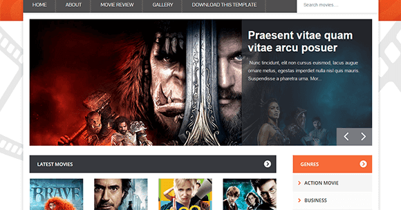 Movie Blogger Template | Blogger Templates Gallery